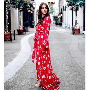 🌹Indigo Rose Sexy Long Elegant Floral Dress